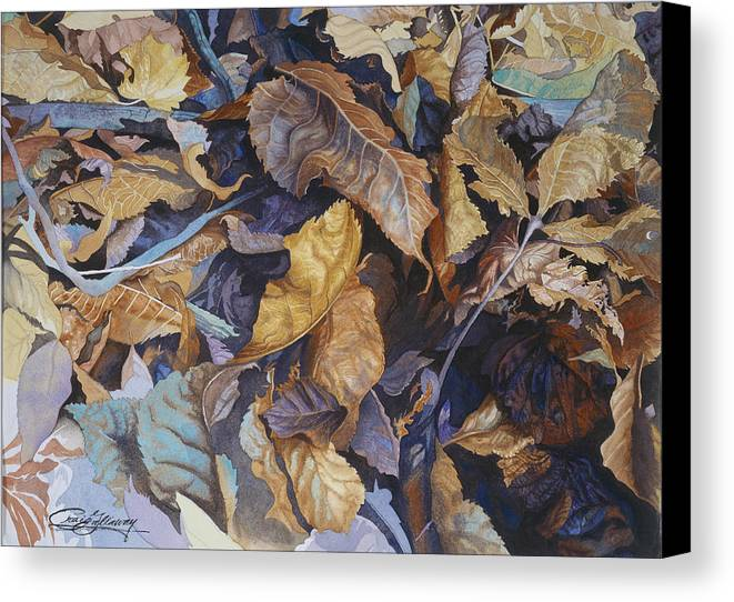 Autumn Canvas Print featuring the painting Shadowland by Craig Gallaway