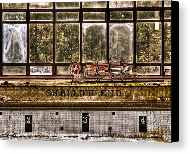 Abandoned Canvas Print featuring the photograph Shallow End by Evelina Kremsdorf