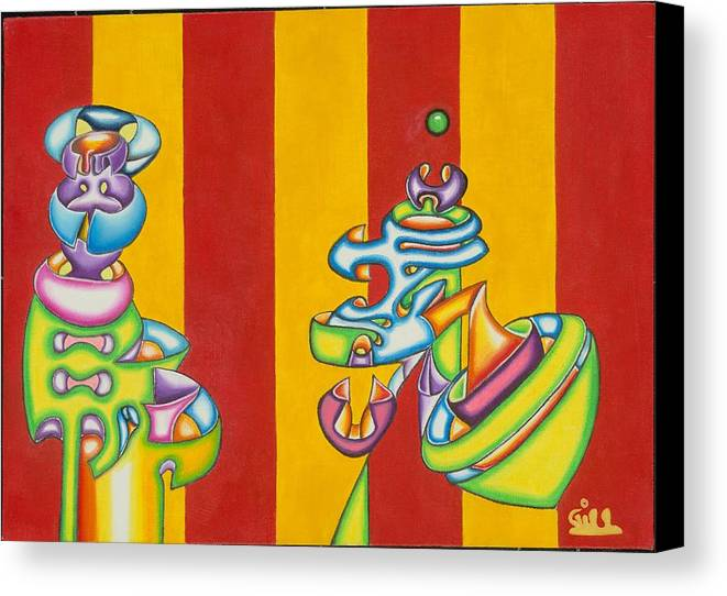 Fantasy Canvas Print featuring the painting Spinning Top by      Gillustrator