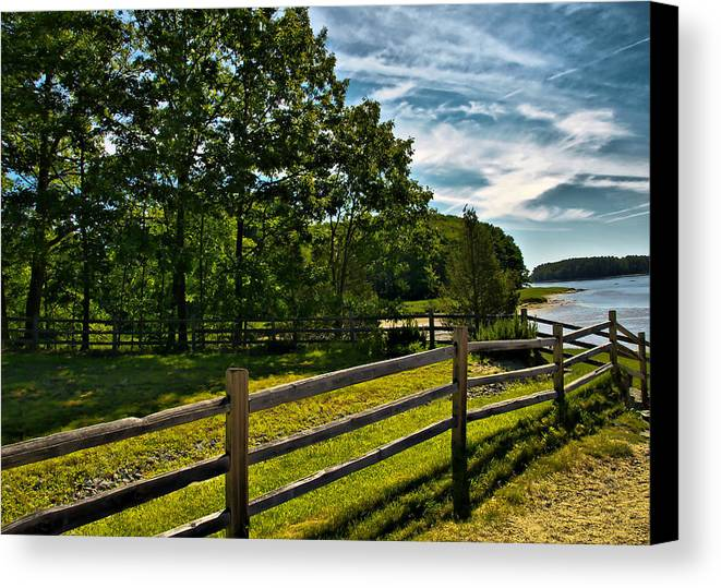 Ladscape Canvas Print featuring the photograph Spring Landscape In Nh 2 by Edward Myers