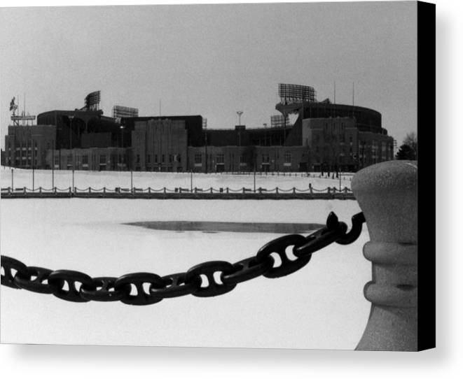 Cleveland Canvas Print featuring the photograph Still Standing by Kenneth Krolikowski
