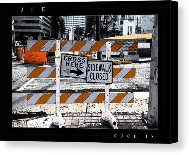 Atlanta Canvas Print featuring the photograph Such Is by Jonathan Ellis Keys