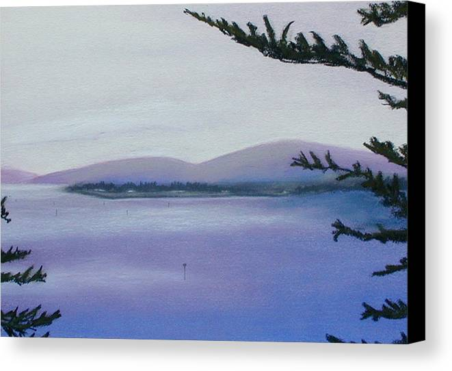 Landscape Canvas Print featuring the painting Sunday Morning Bodega Bay California by Gary Jameson