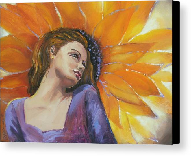 Female Canvas Print featuring the painting Sunny by Dianna Willman
