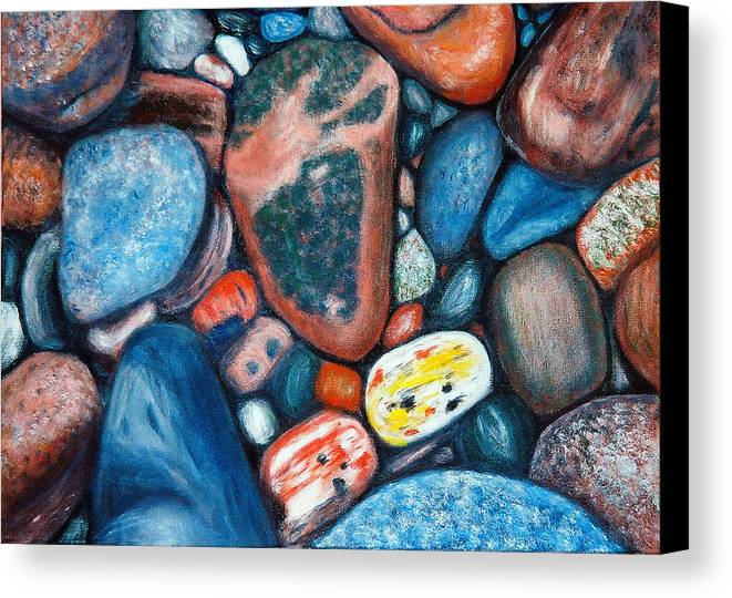 Rocks Canvas Print featuring the painting Superior View by Patricia Ortman