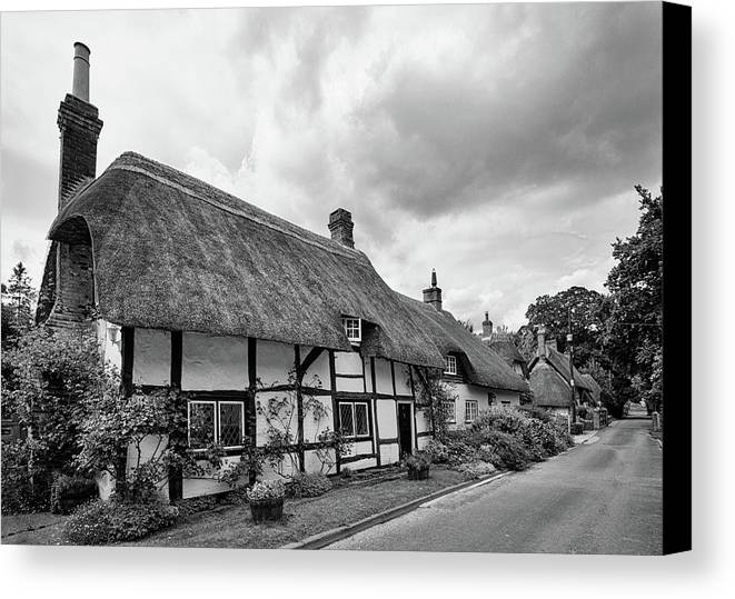 Cottage Canvas Print featuring the photograph Thatched Cottages Of Hampshire 15 by Shirley Mitchell