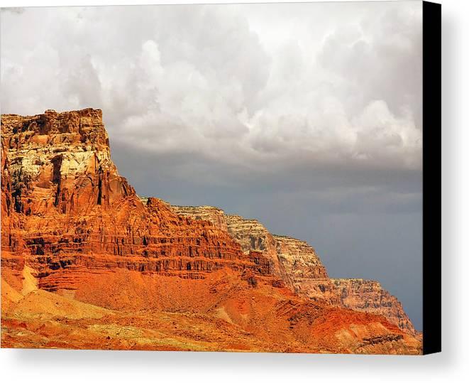 Vermilion Cliffs Canvas Print featuring the photograph The Condor's Land by Christine Till