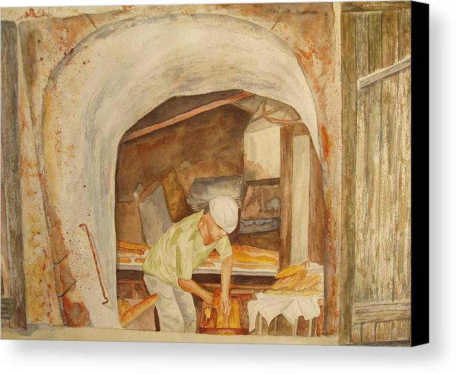 France Canvas Print featuring the painting The French Baker by Vicki Housel