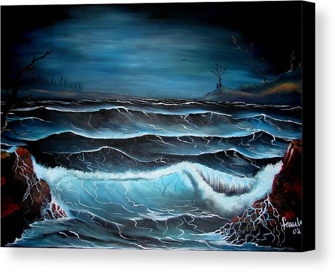 Landscape Canvas Print featuring the painting The Rage by Glory Fraulein Wolfe