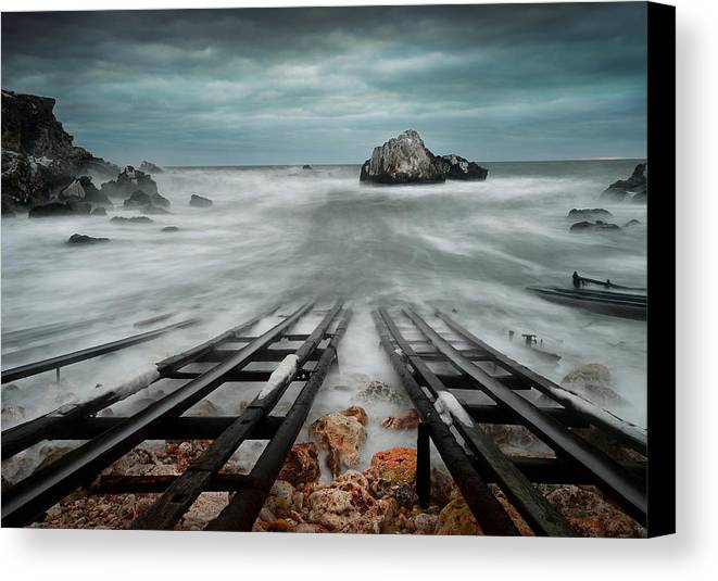 Sea Canvas Print featuring the photograph The Sea by Tsoncho Balkandjiev