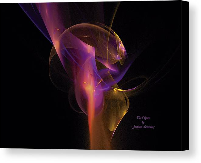 Sparks Canvas Print featuring the digital art The Spark by Josephine Morkeberg
