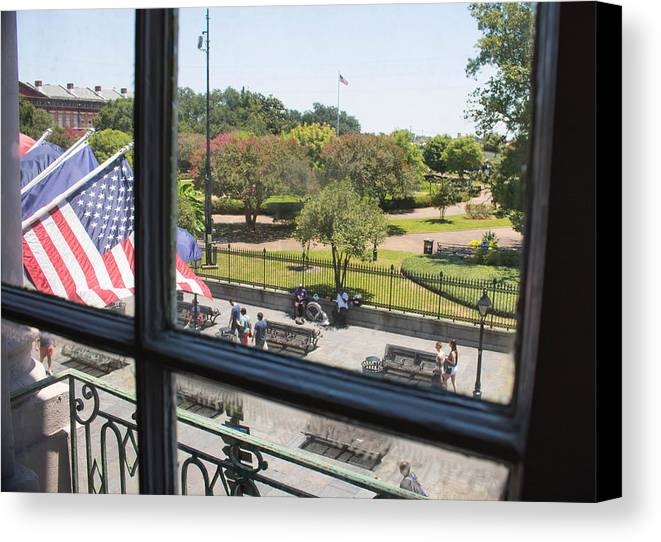 New Orleans Canvas Print featuring the photograph The View - Jackson Square by My NOLA Eye