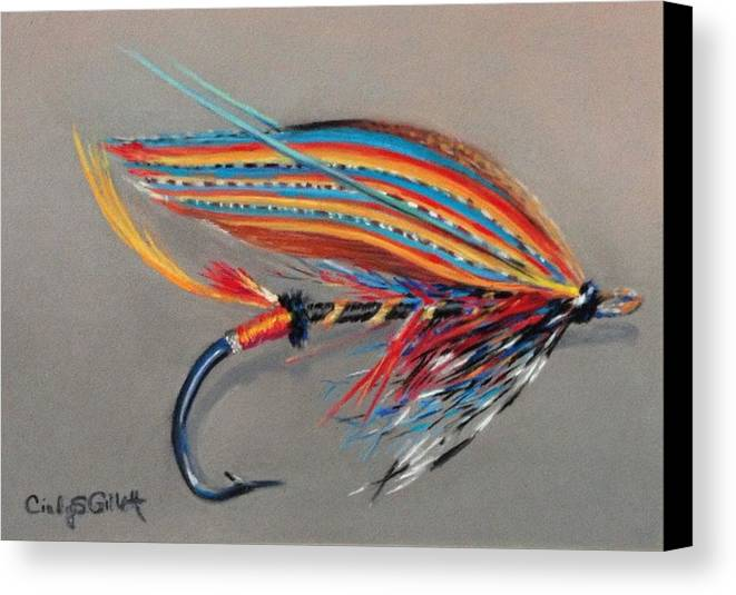 Thunder And Lightening Canvas Print featuring the painting Thunder And Lightening by Cindy Gillett