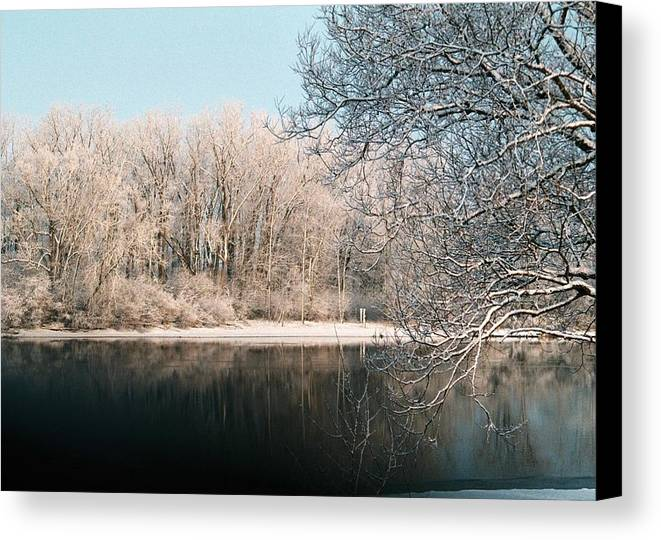 Snow Canvas Print featuring the photograph Touch Of Snow by Jennifer Englehardt