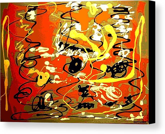 Abstract Canvas Print featuring the painting Twister by Rusty Woodward Gladdish