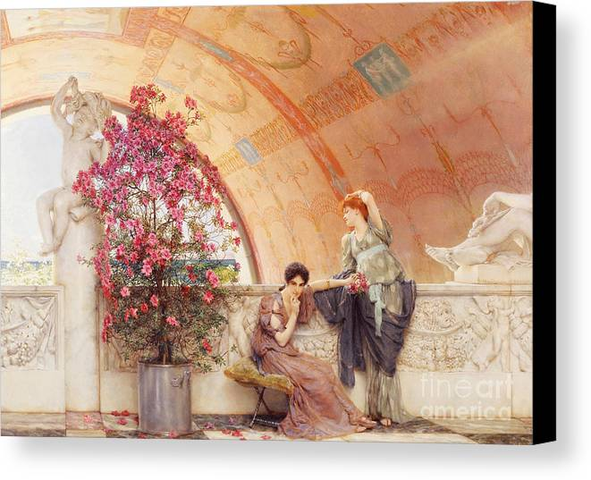 Unconscious Canvas Print featuring the painting Unconscious Rivals by Sir Lawrence Alma Tadema