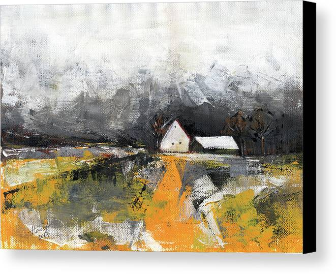 Landscape Canvas Print featuring the painting Welcome Home by Aniko Hencz
