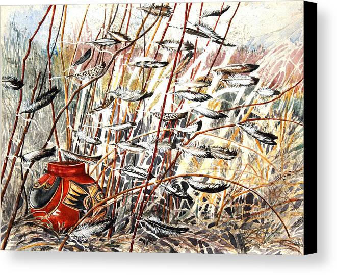 Offering Canvas Print featuring the painting Winds Of Fortune by Patricia Allingham Carlson