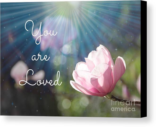 Love Canvas Print featuring the photograph You Are Loved by Carol Groenen