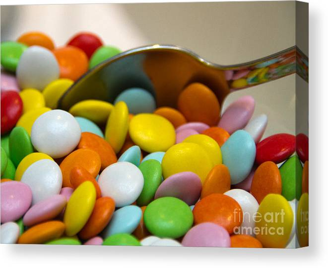 Arrangement Canvas Print featuring the photograph A Spoonful Of Candy by Stelios Kleanthous