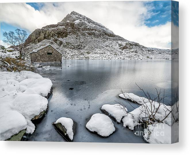 Winter Canvas Print featuring the photograph Above The Ice by Adrian Evans
