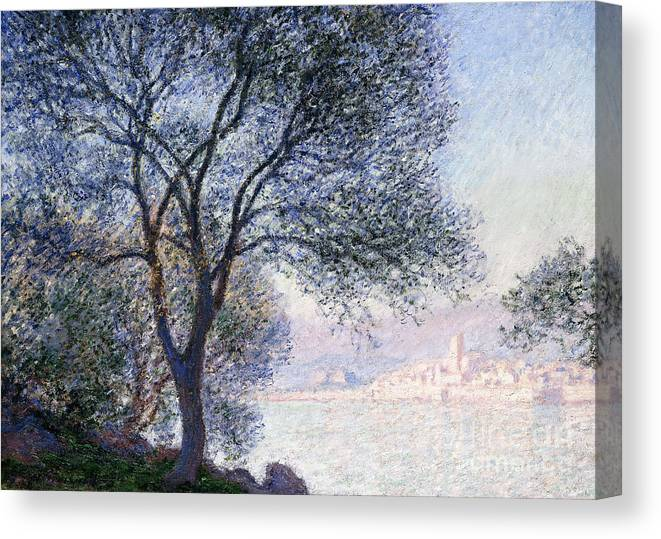 Monet Canvas Print featuring the painting Antibes Seen From The Salis by Claude Monet