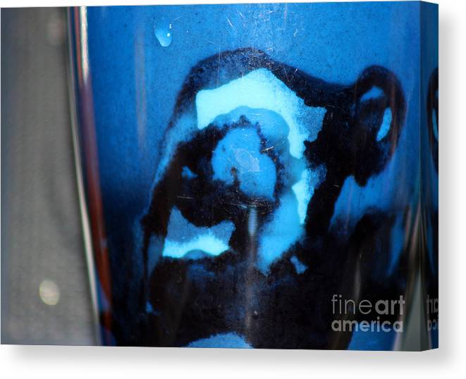 Abstract Canvas Print featuring the photograph Blue Instant by Karen Adams