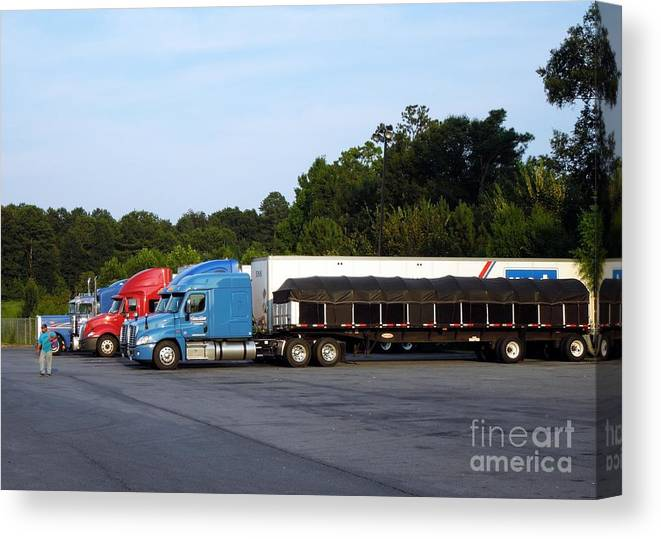 Truck Canvas Print featuring the photograph Dinner Time For Truckers by Renee Trenholm