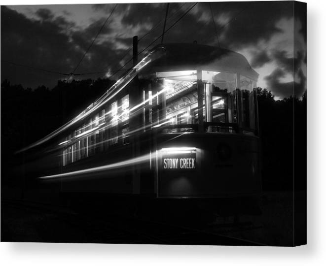Trolley Canvas Print featuring the photograph Ghost Of Trolleys Past II by Jim Poulos