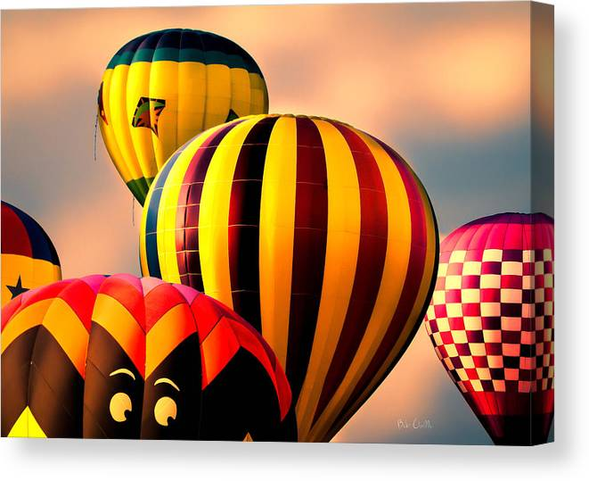 Hot Air Balloon Canvas Print featuring the photograph I See You by Bob Orsillo