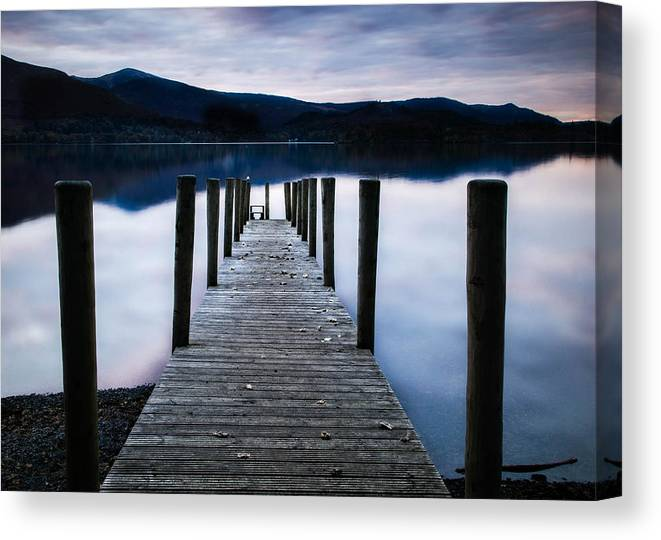Canvas Print featuring the photograph Jetty by Tomas Urban