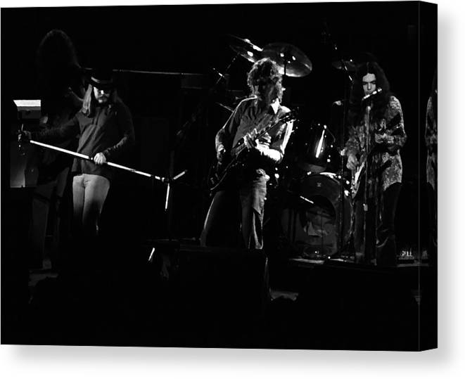 Lynyrd Skynyrd Canvas Print featuring the photograph Ls Spo #35 Enhanced Bw by Ben Upham