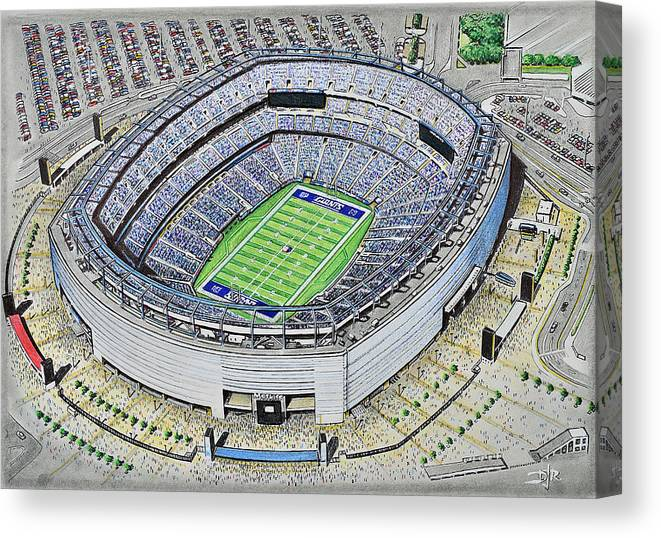 24a33e682 New York Canvas Print featuring the painting Metlife Stadium - New York  Giants by D J Rogers