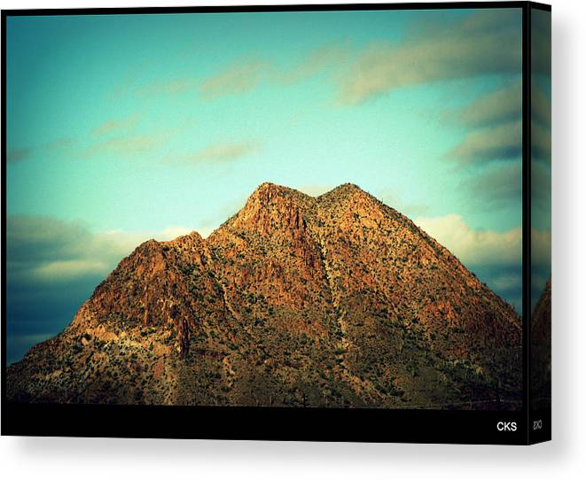 Mountain Canvas Print featuring the photograph Mountain Face by Chanelle Sheridan