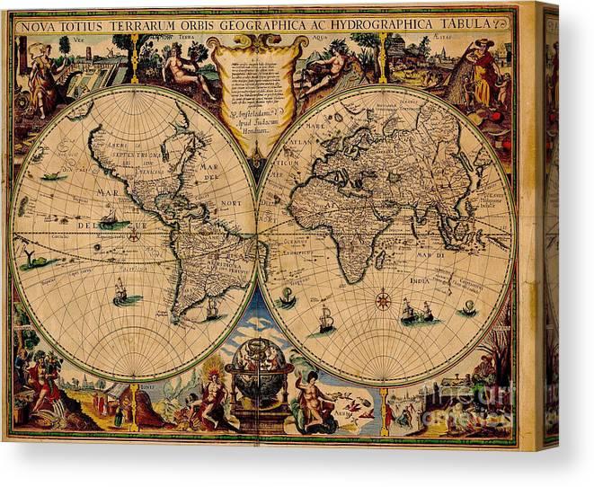 Nova Totius Terrarum Orbis Geographica Ac Hydrographica Tabula Old