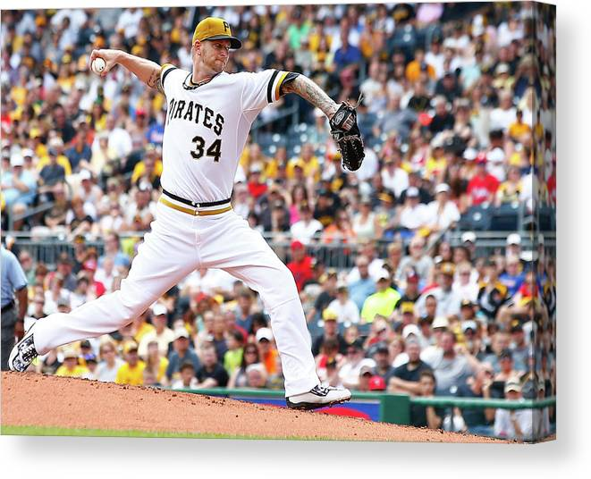 People Canvas Print featuring the photograph Philadelphia Phillies V Pittsburgh by Jared Wickerham
