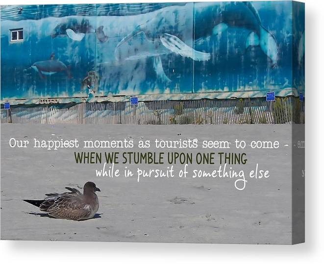Seaside Canvas Print featuring the photograph Seaside Art Gallery Quote by JAMART Photography