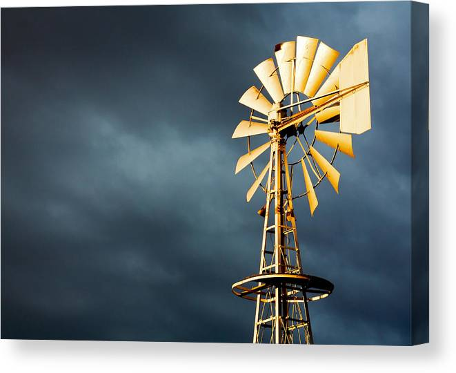 Stormy Canvas Print featuring the photograph Stormy Skies by Todd Klassy