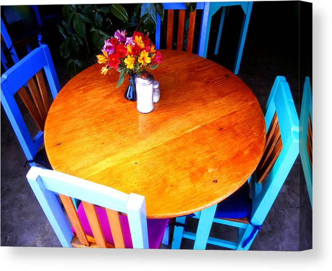 Still Lifes; Fine Art; Table Setting. Canvas Print featuring the photograph The Round Table by Robert Rodvik