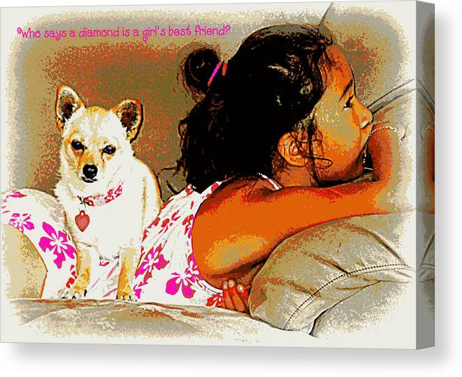 Dog Canvas Print featuring the photograph Who Says? by Heidi Manly