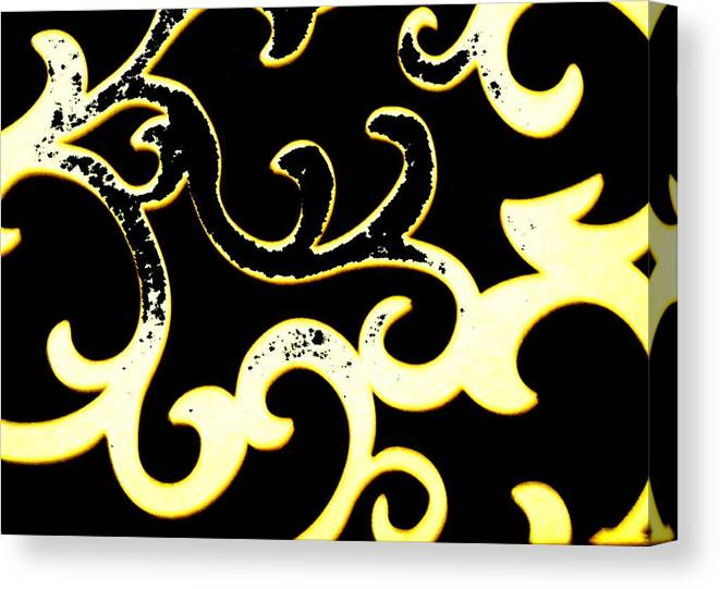 Black And White Canvas Print featuring the photograph Art Deco Branchlets by Renate Nadi Wesley