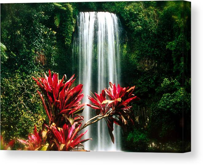 Waterfall Canvas Print featuring the photograph Elixir Of Life by HweeYen Ong