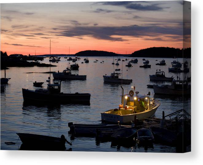 Maine Canvas Print featuring the photograph First Light by Don Powers