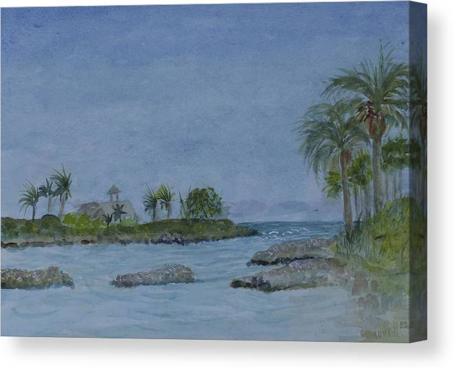 Jupiter Inlet Canvas Print featuring the painting Jupiter Inlet by Donna Walsh