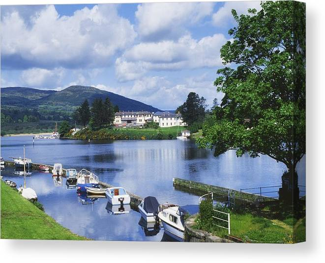 Boats Canvas Print featuring the photograph Killaloe, County Clare, Ireland by Sici