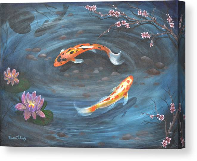 Koi pond canvas print canvas art by desiree mattingly for Koi prints canvas