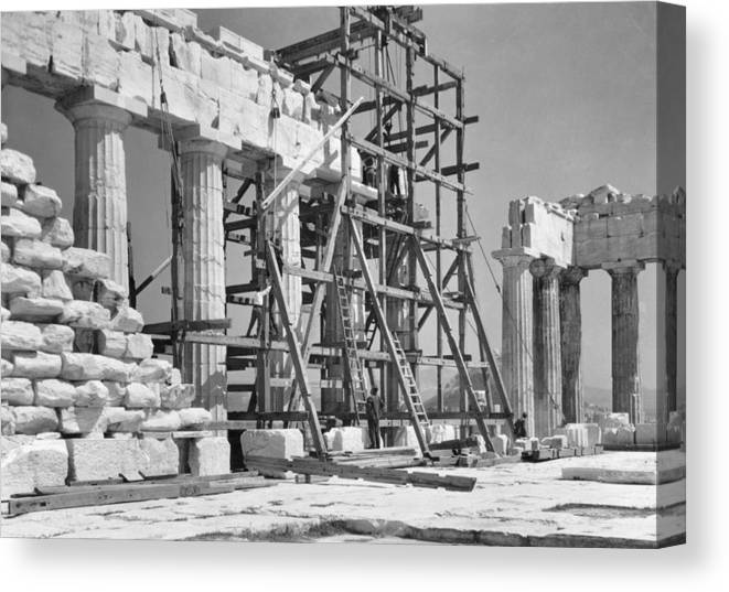athens Canvas Print featuring the photograph The Acropolis. The Parthenon. One by W. Robert Moore