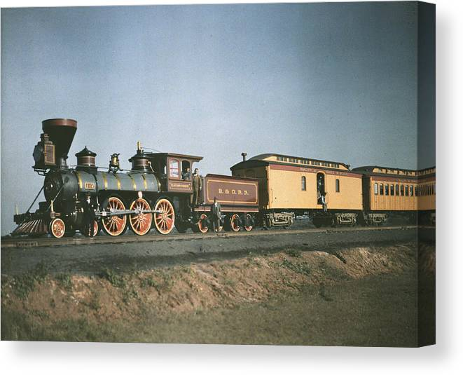 maryland Canvas Print featuring the photograph The Fair Of The Iron Horse, Baltimore by Charles Martin
