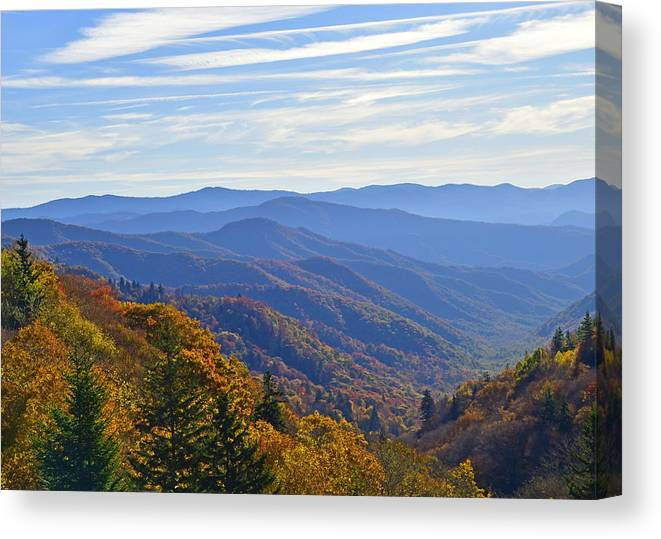 Ann Keisling Canvas Print featuring the photograph Blue Ridge Parkway View by Ann Keisling