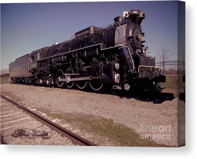 Train Engine #2732 Canvas Print featuring the photograph Train Engine #2732 by Melissa Messick
